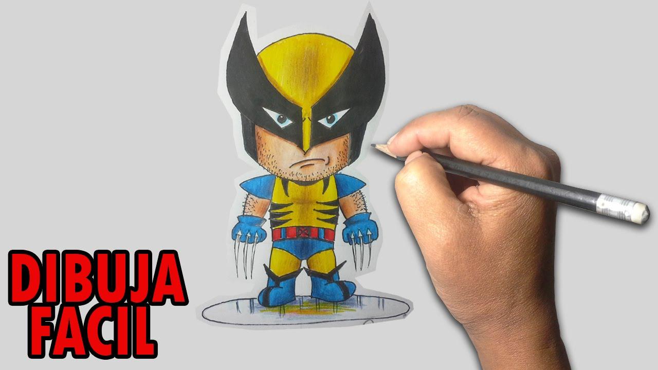 Como dibujar facil wolverine chibi paso a paso youtube for Comedor facil de dibujar
