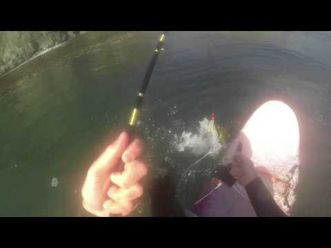 Fishing big sur from a surfboard june 2015 youtube for Big sur fishing