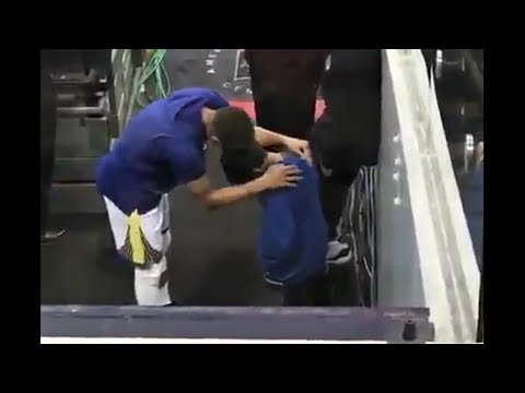Steph Curry Comforts Devin Harris