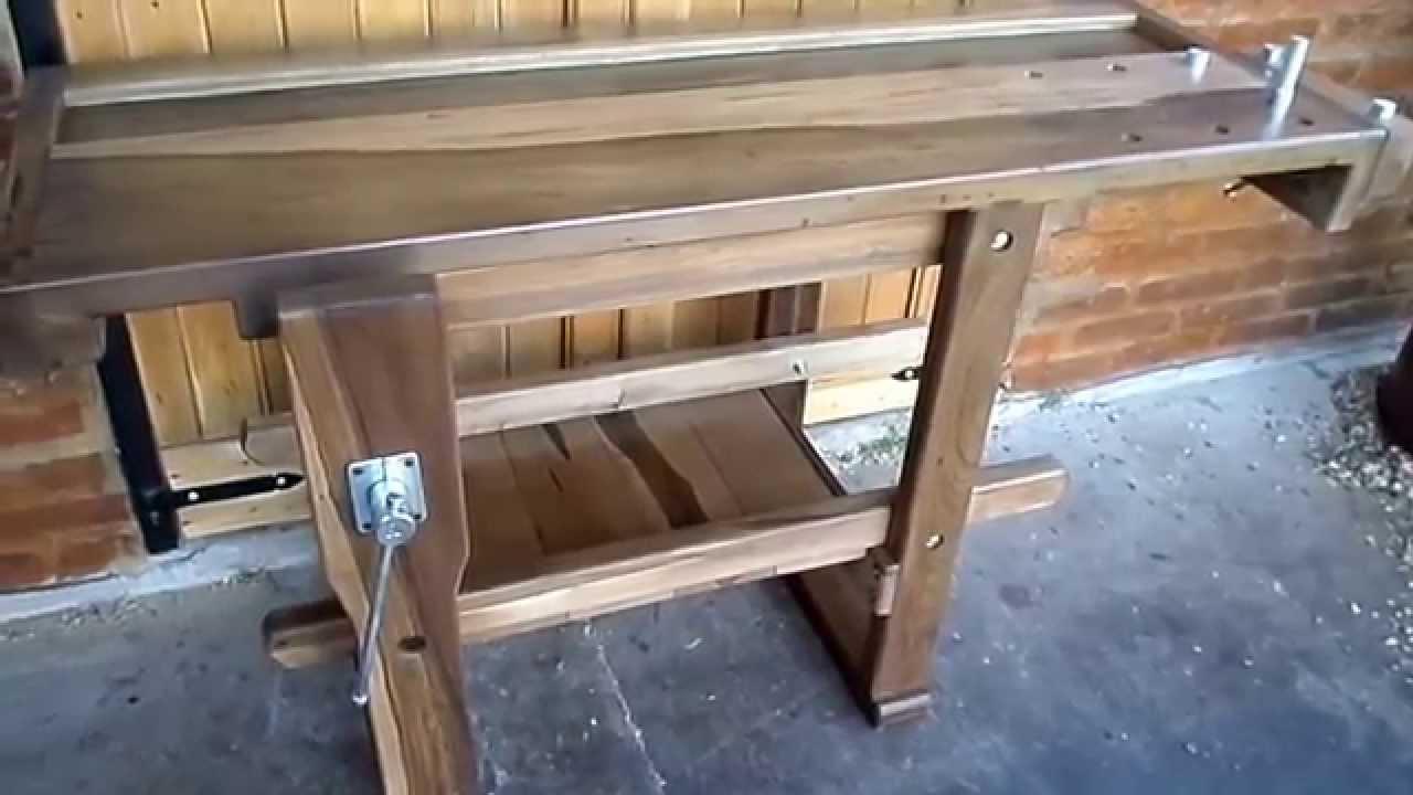 Banco de carpintero con doble morsa mesa de trabajo for Mesa de carpintero