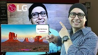 LG 4K Ultra HD Smart LED TV - Unboxing and Review (Hindi)