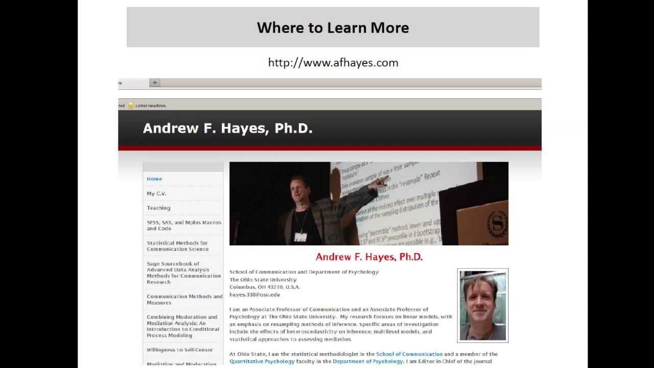 Andrew Hayes discusses