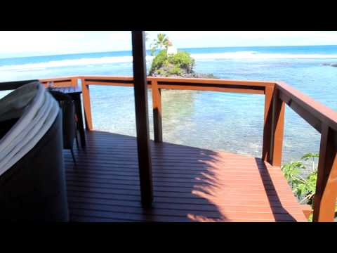The honeymoon pointhouse at Seabreeze Resort in Samoa