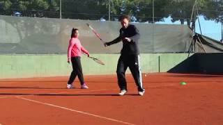 Forehand drill - court positioning & stances