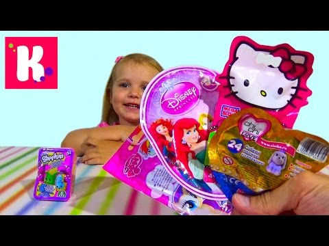 Хелоу Китти сюрприз Чи Чи Лав игрушки Принцессы Диснея распаковка Hello Kitty MLP surprises unboxing