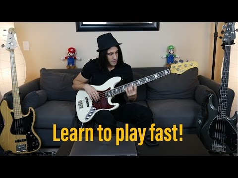 Download Youtube: How To Play Fast - Bass Speed Technique Lesson