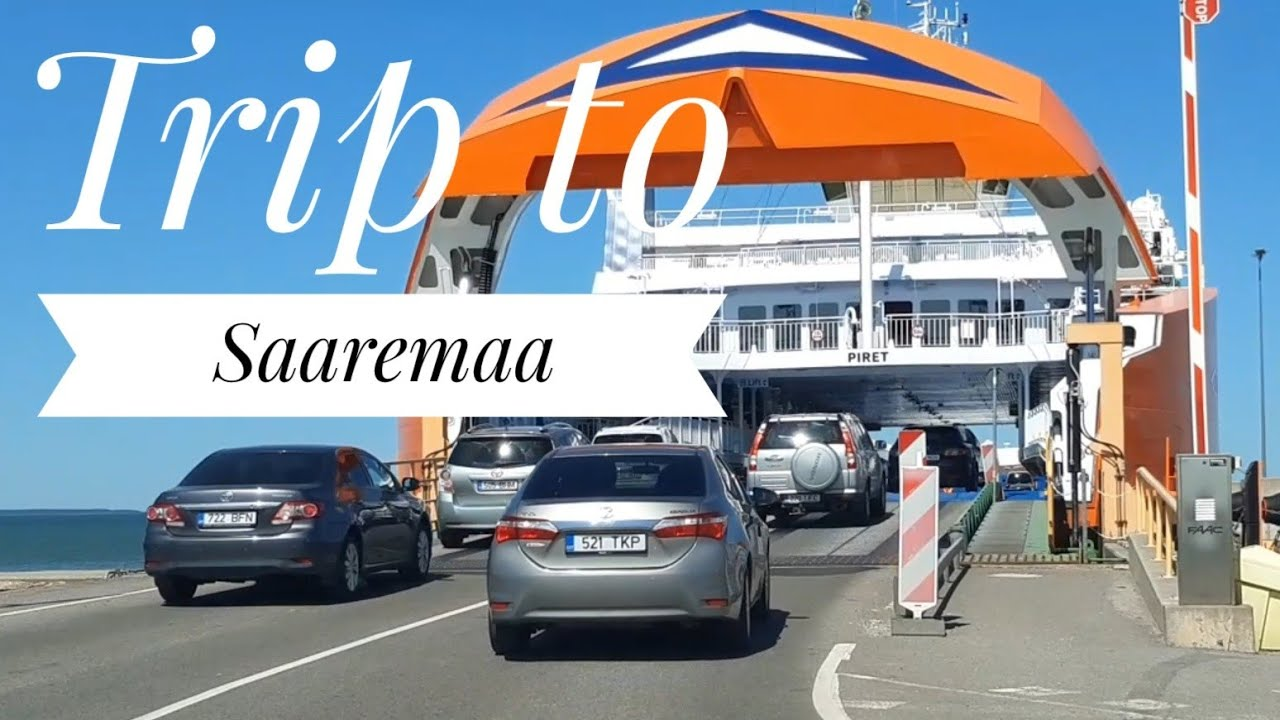 Getting on the ship to Saaremaa (with a car) from Kuivastu port