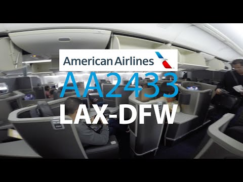 AA2433 LAX-DFW American Airlines Business Class Boeing 777-200 RETROFIT