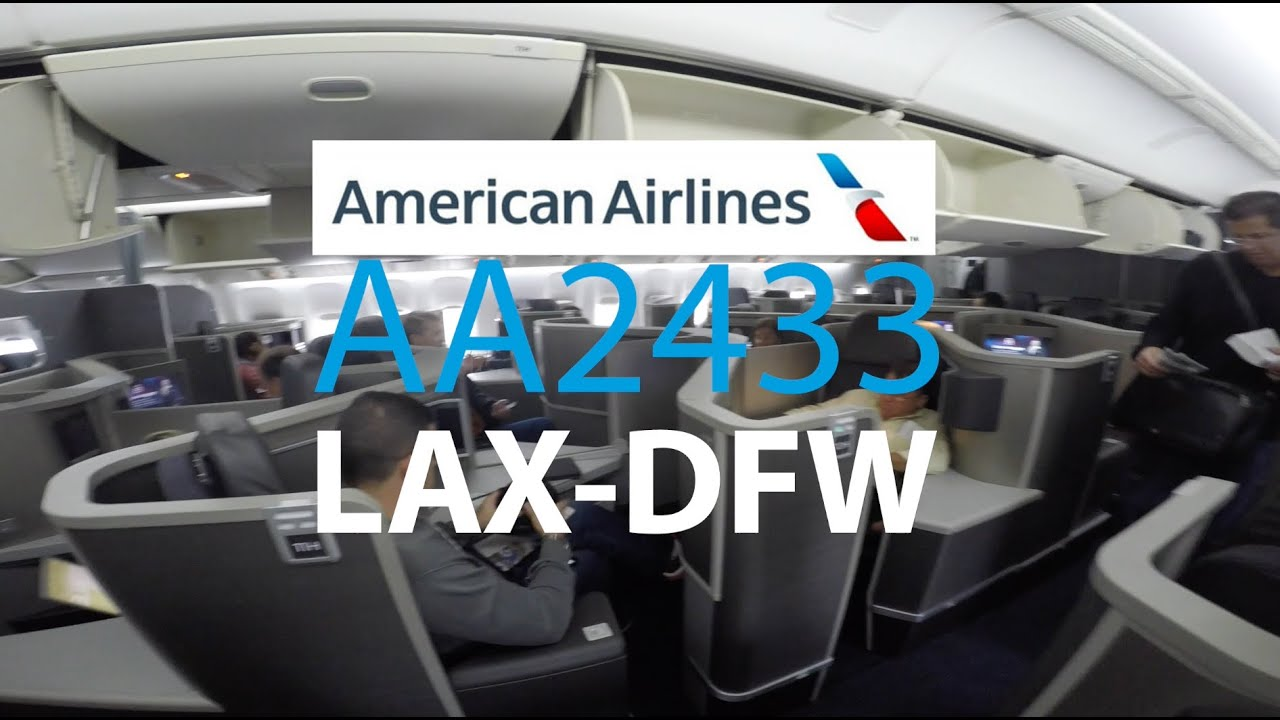 Aa2433 Lax Dfw American Airlines Business Class Boeing