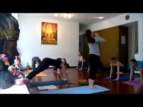 Yoga Zagreb Surya Namaskar With Sandra Petra Pintaric Divya Yoga Center Youtube