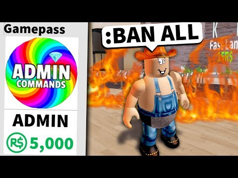 Buying ROBLOX admin... then ruining their game