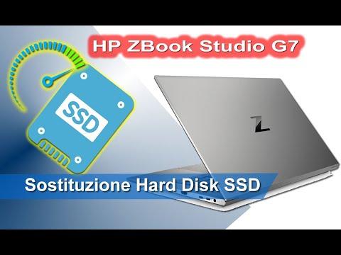 HP ZBook Studio G7 sostituzione hard disk SSD