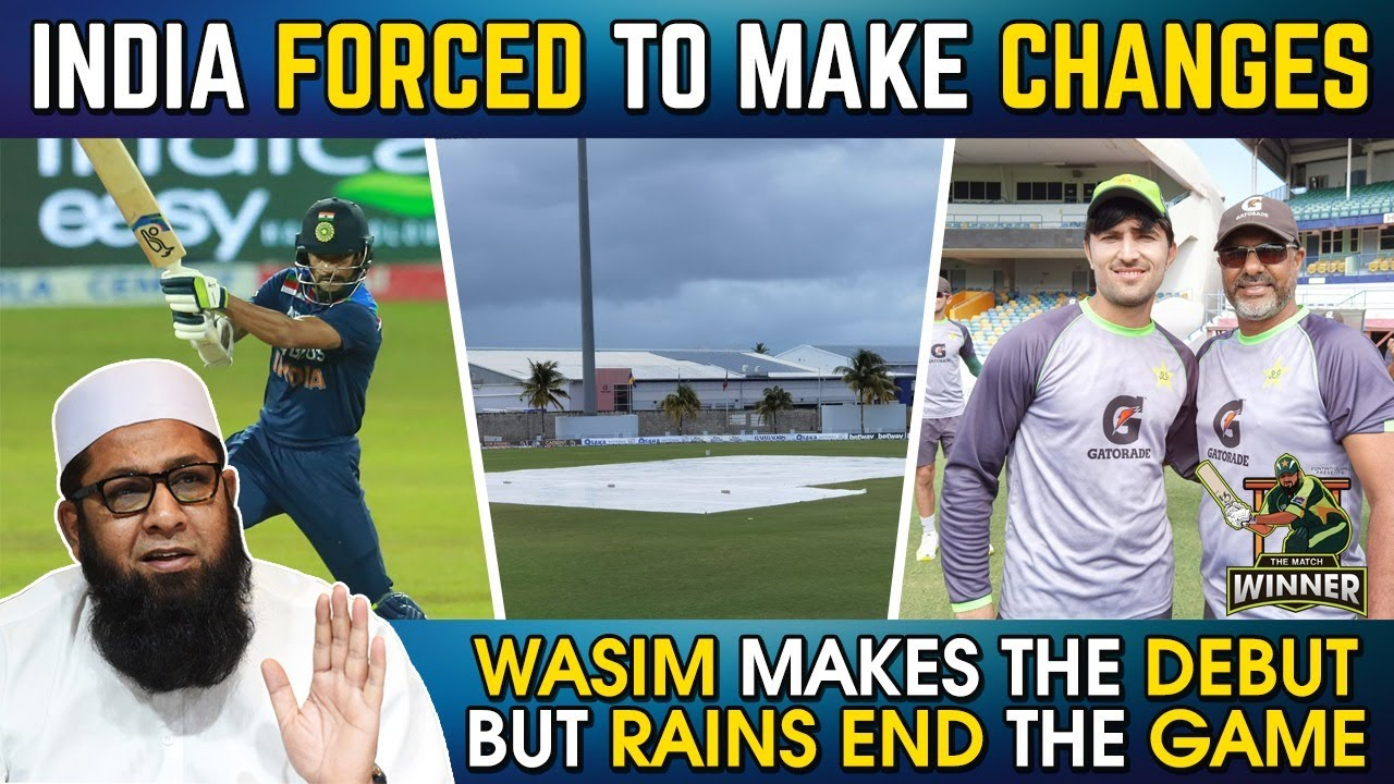 India Forced To Make Changes | Wasim jnr Makes Debut But Match Ends In Rain