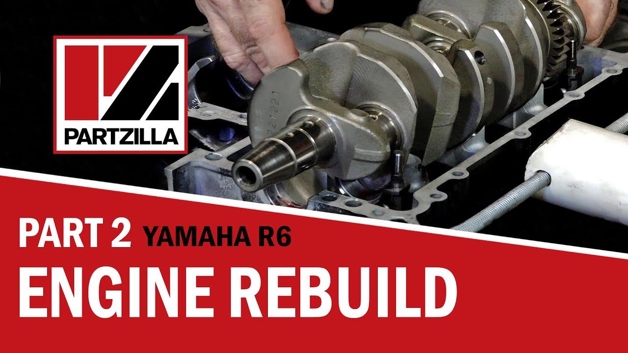 Yamaha R6 Engine Rebuild Part 2 636 Wiseco Piston Install To Head Install Partzilla Com Youtube