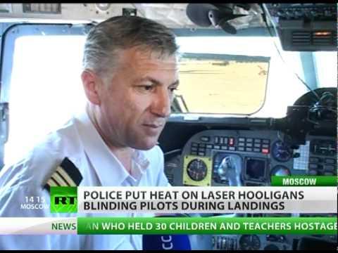 Laser Lout Terror: Beam hazard blinds pilots during landing