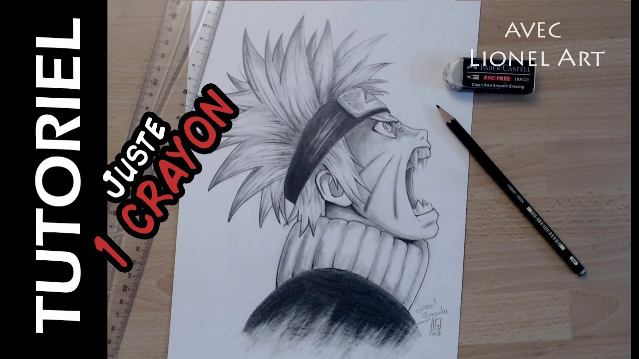 Comment Dessiner Naruto Avec 1 Crayon Hb Youtube