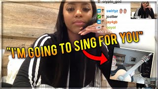 Diss God Sings To Girl AND MAKES HER FALL IN LOVE Live On Stre…