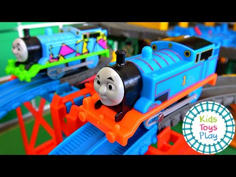 Thomas and Friends Sodor Superstation Speedway Thomas the Tank Engine Train Races