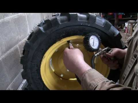How I Load Tractor  Tires With Windshield Washer Fluid For Weight