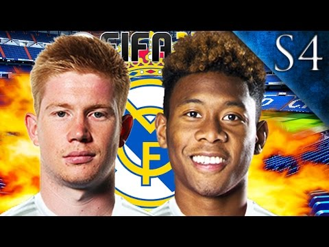 DE BRUYNE, DAVID ALABA SIGN! FIFA 17: REAL MADRID CAREER MODE S4 EP. 1