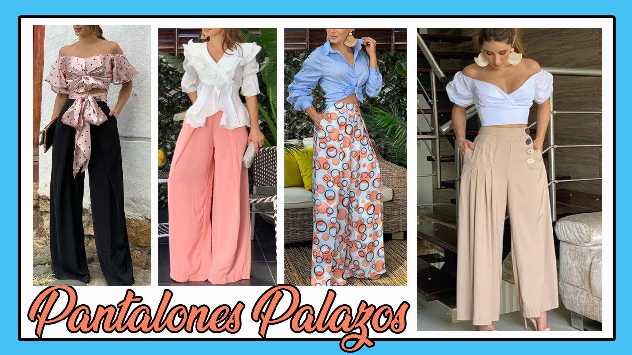 Looks Casuales Y Elegantes Con Pantalones Palazos Pantalones En Tendencia 2020 Youtube