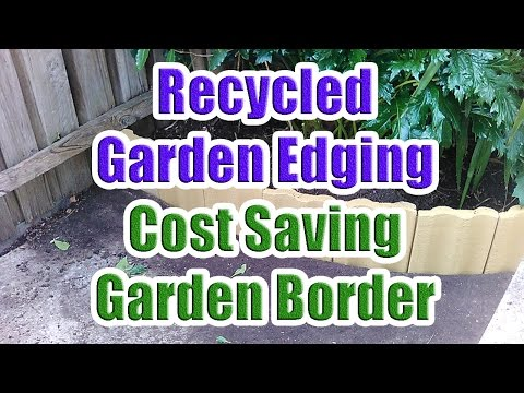 Garden Edging Border Using Old House Tiles (Cost Saving Garden Border Edging)