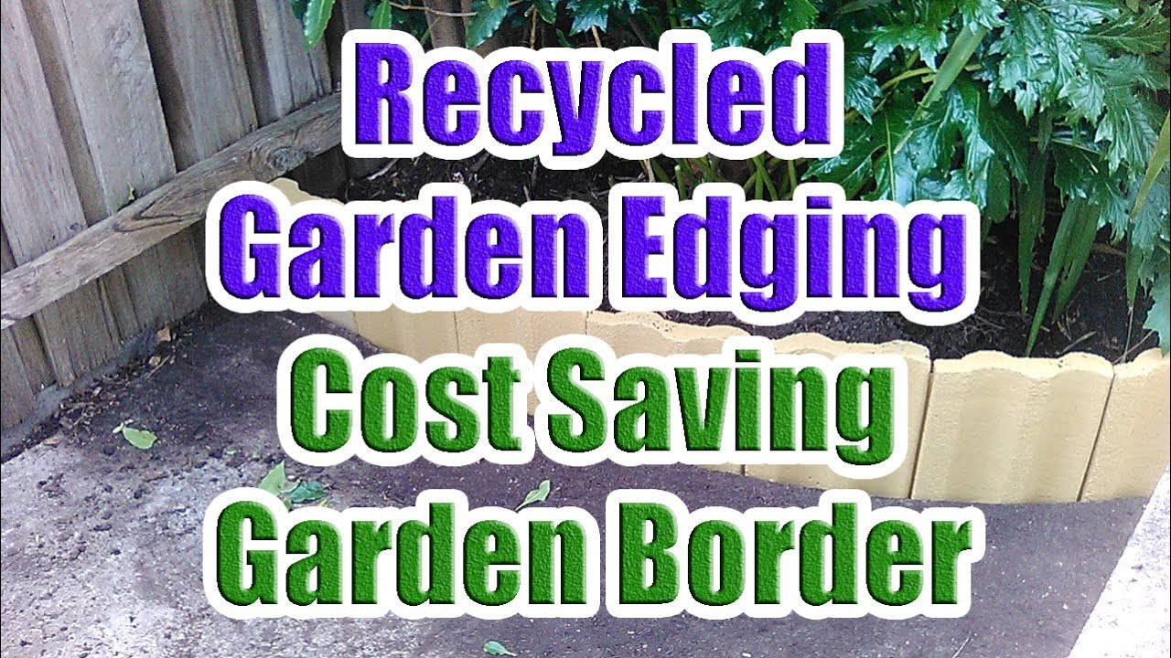 Garden Edging Border Using Old House Tiles (Cost Saving Garden ...