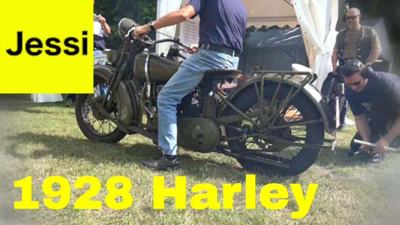 1928 Harley Davidson Ba Single: 1928 Harley Davidson 1200 JD Exhaust Sound