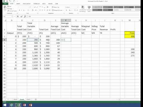 Chapter 5 Excel File - YouTube