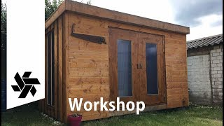 Building The Workshop // Tiny House, Garden Shed