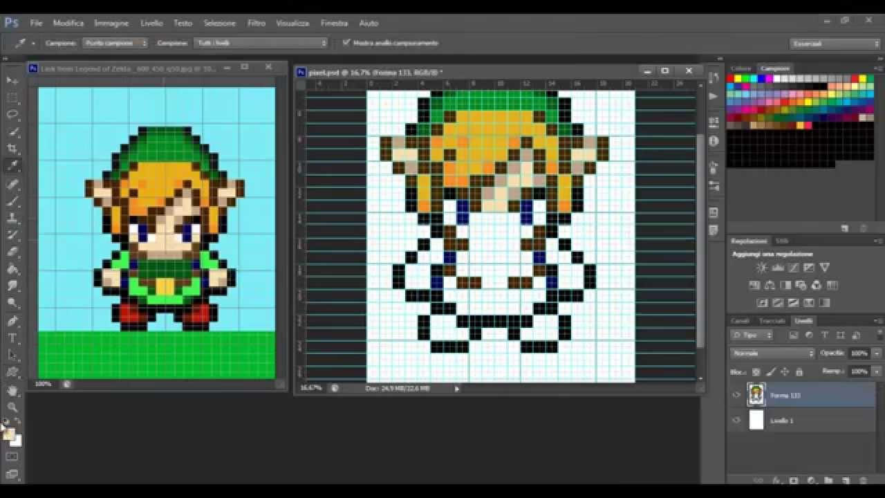 how to make a pixel art in photoshop