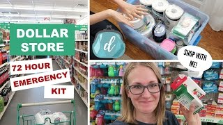 🚨 How to make a DOLLAR STORE 72-HOUR EMERGENCY KIT! (shop with me feat. Dashlane)
