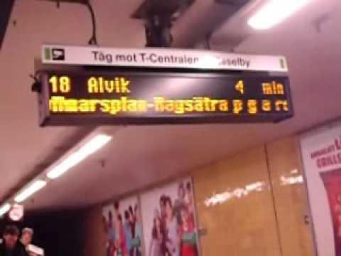 Stockholm Underground (Tunnelbanan), the Medborgarplatsen Station