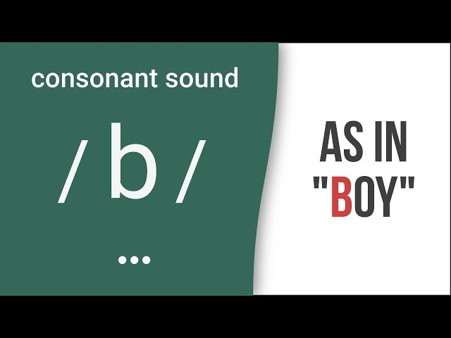 Consonant Sound / b / as in
