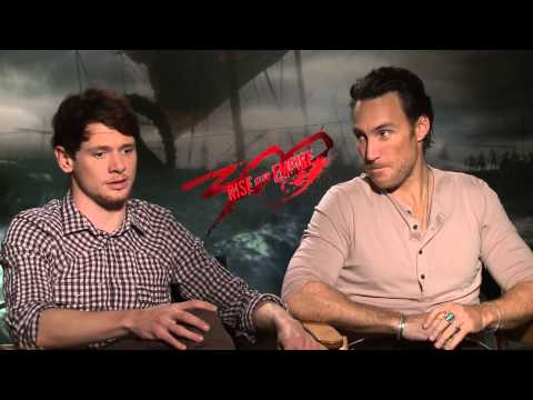 Jack O'Connell and Callan Mulvey  300 Rise of an Empire