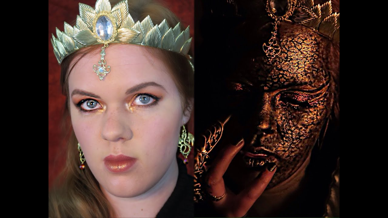 The Dragon Queen-Woman By Day Dragon By Night Makeup Tutorial - YouTube