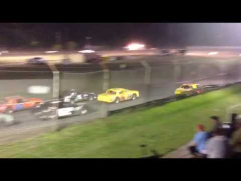 Factory Stock Feature part 1 Superbowl Speedway 4-1-17
