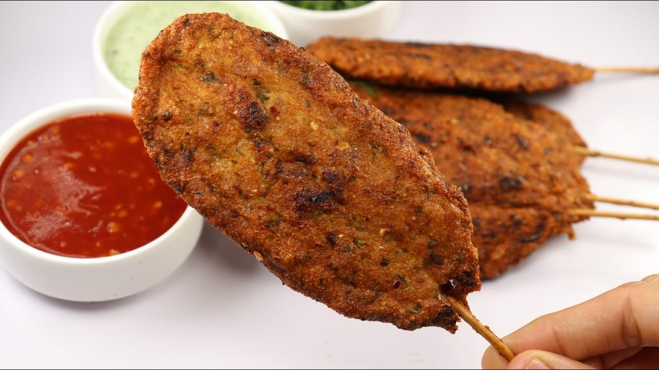 5 Minutes Ramadan Special Recipe,Chicken Kabab Sticks By Recipes of the World