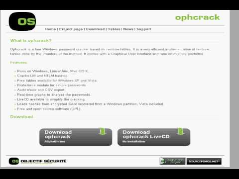 Installing Ophcrack Live CD (Not How To Use It!)