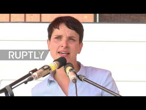 Germany: AfD's Petry comments on burqas, citizenship and refugees at Wismar rally