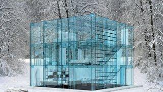 Дома из стекла, стеклянные беседки и бассейны