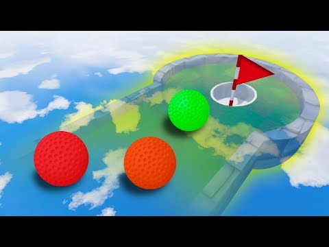 GOLF ON CRAZY INVISIBLE COURSE! (Golf It)