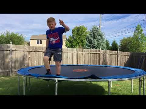 Trampoline and dirt bike tricks  (video credits to my sister Addie)