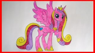 How to draw Princess Cadance my little pony, Как нарисовать пони Принцесса Каденс, дружба это чудо(SUBSCRIBE http://www.youtube.com/channel/UCP3MUIw4Nd-eG8sCLSOL8eg?sub_confirmation=1 How to draw cartoon characters How to draw Princess ..., 2015-01-29T04:15:06.000Z)