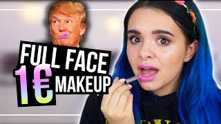 Oh wow.... FULL FACE mit 1€ MAKEUP! 💸1 Euro Schminke testen!