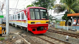 LANGKA ! Suara Alarm Perlintasan Kereta Api KRL Stasiun Mampang