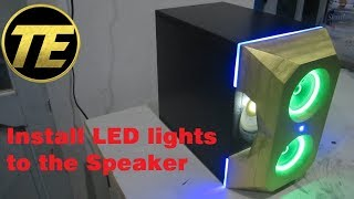 How to install LED lights to the Speaker