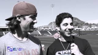 Angels Outfielder Collin Cowgill visits with SportSpeak SoCal