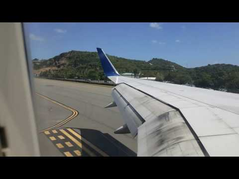Landing in St. Thomas US Virgin Islands on Delta