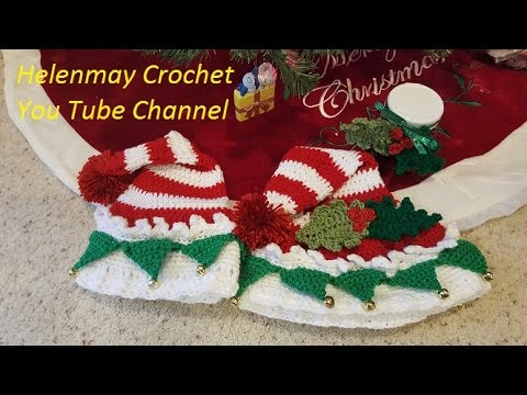 Easy Christmas Amigurumi : Crochet easy christmas santa elf's hat diy video tutorial youtube